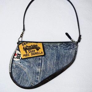 Vintage Dior Miss Diorella Mini Saddle Bag